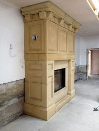 hand carved Fireplace - JLD Stone