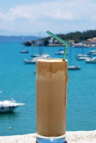 Greek Frappe in Porto Heli