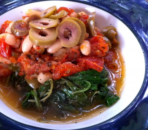 Mediterranean Beans with Greens by JL Fields on JL goes Vegan