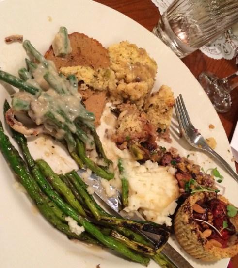 Seeds Community Cafe | Vegan Thanksgiving Dinner plate