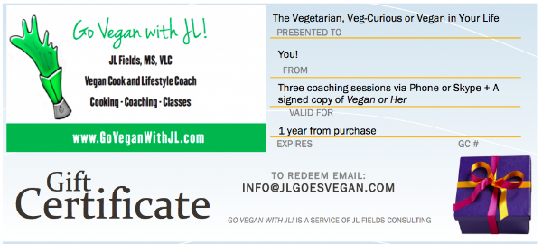 Vegan Lifestyle Coaching with JL Fields