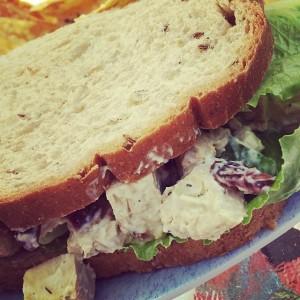 Chicken-Less Salad Sandwich   JL goes Vegan