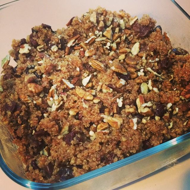 Meatless Monday: Warm Nutty Quinoa and Cherry Salad