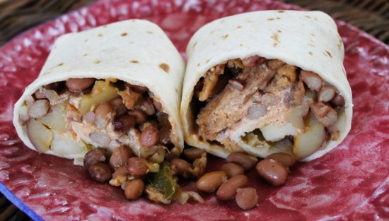 Soy Curl and Pinquito Bean Burritos 4 | JL Fields | JLgoesVegan.com