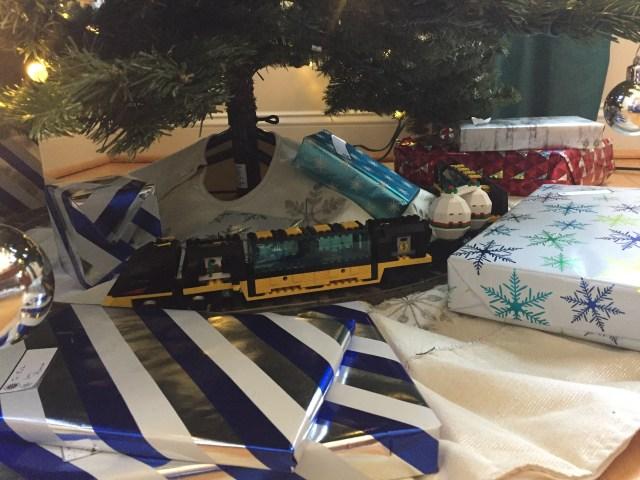 train under the tree