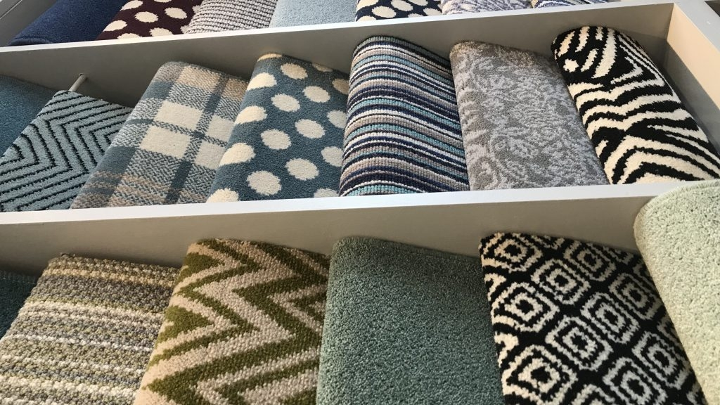 J L Hill Carpets Limited Getting Carpet Ideas For Stairs Can | Zig Zag Carpet On Stairs | American Style | Asymmetric Stair | Before And After | Navy Pattern | Grey
