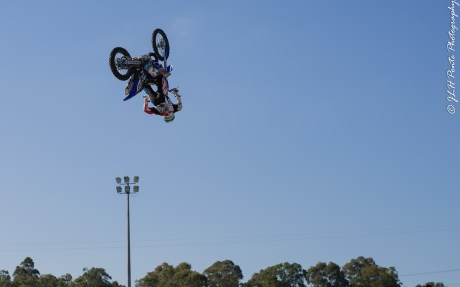 Bikes&Bulls fly high, this rider beleave's hanging up side down is the way
