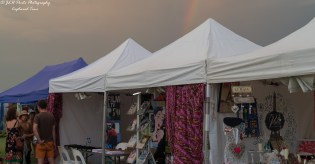 French Festival Stalls, with a storm brewing