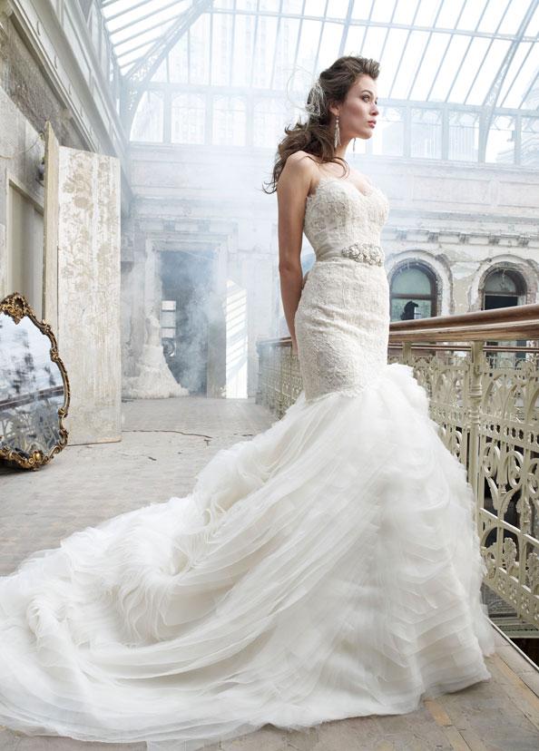 أثواب الزفاف لازارو، LZ3201 الزفاف فساتين ستايل من قبل شركة JLM، تصميم الازياء