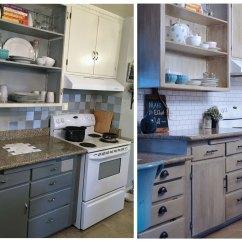 Kitchen Facelift Before And After Cooking Utensils Diy Backsplash Jlm Designs