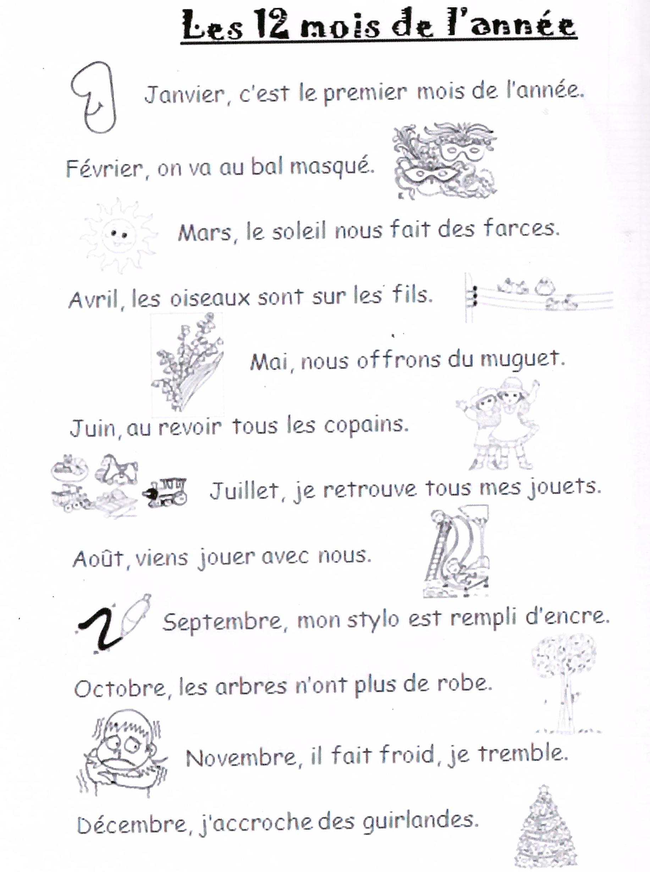 La Chanson Des Douze Mois : chanson, douze, DOUZE, L'ANNE, InfoScolaire