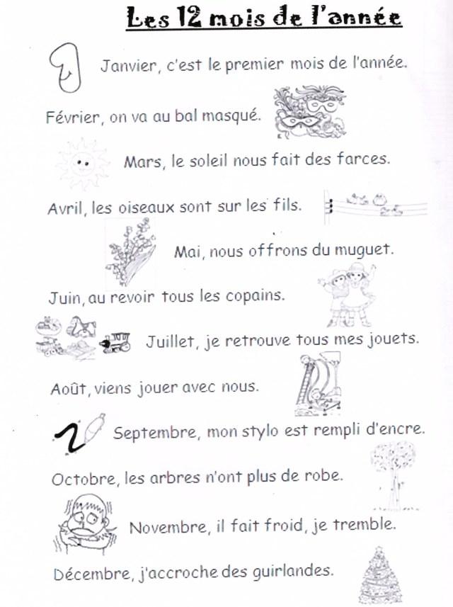 Les Mois De L Année Poésie : année, poésie, DOUZE, L'ANNE, InfoScolaire