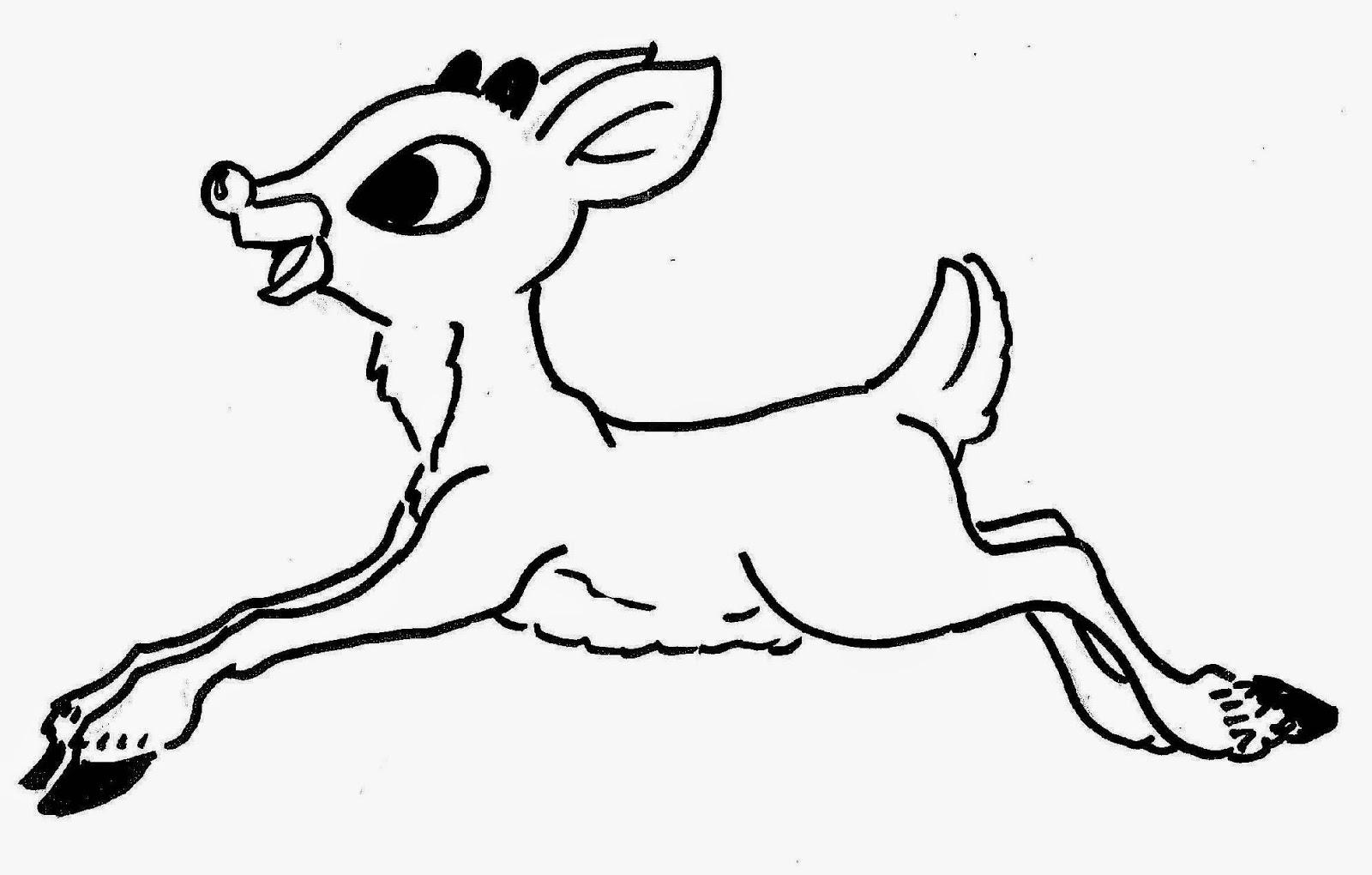 Drawn Reindeer Rodolfo