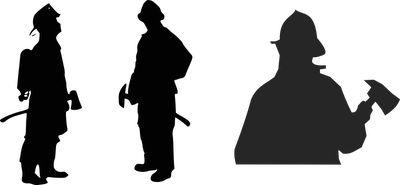 fireman silhouette clip art # 35