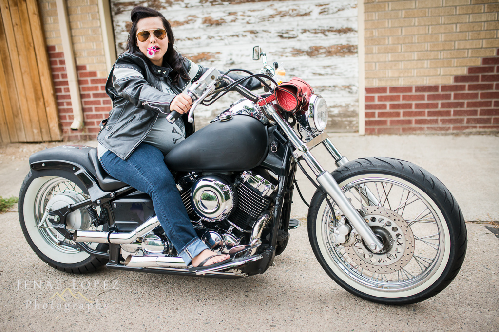 Maternity photography with motorcycle  Jenae Lopez Photography Colorado Wedding and Lifestyle