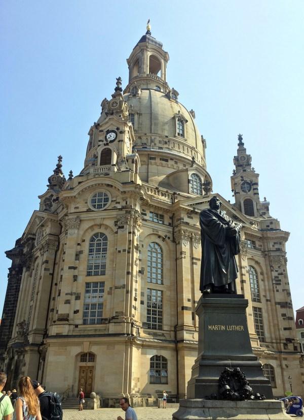 De heropgebouwde Frauenkirche.