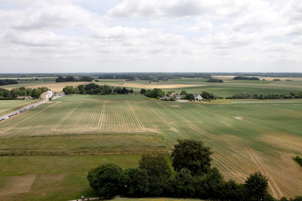 Waar gevochten werd bij de Slag van Waterloo