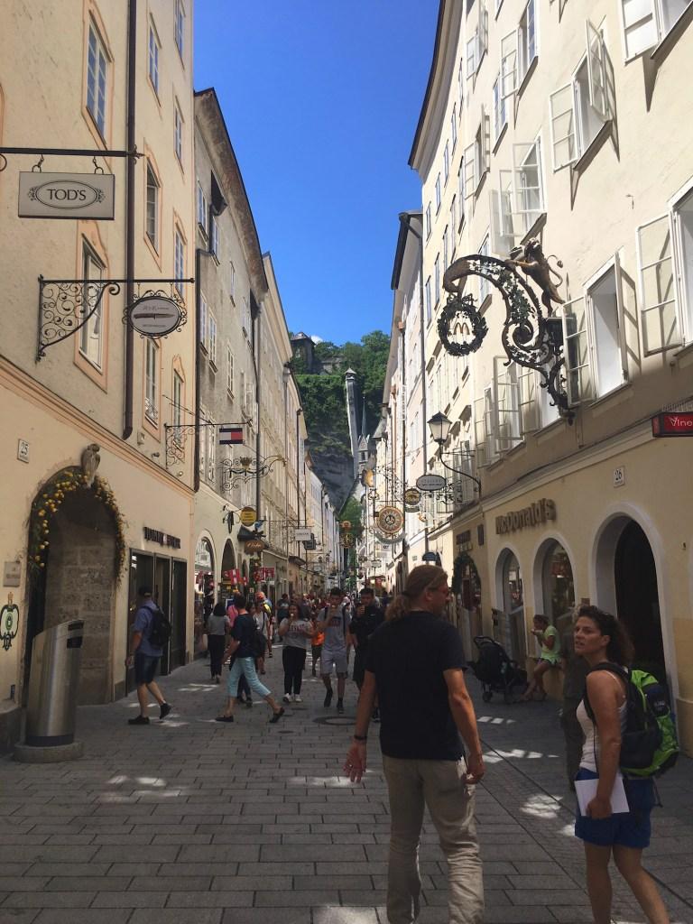 Het chique centrum van Salzburg