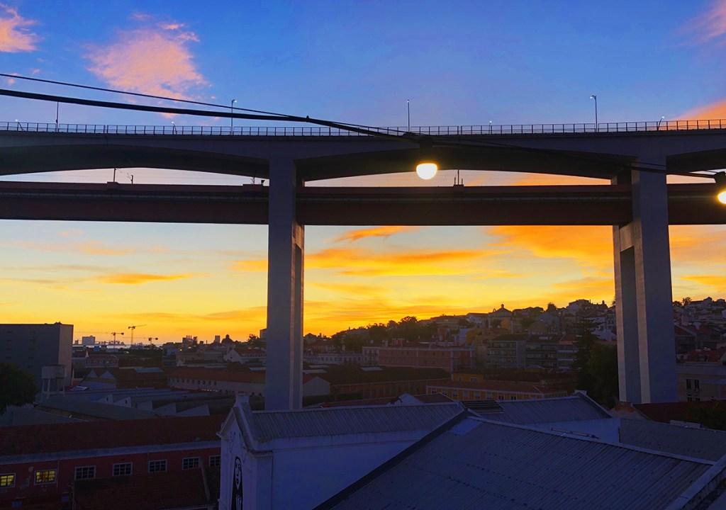 Lissabon zonsondergang