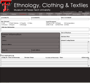 Ethnology, Clothing and Textiles Accession Database