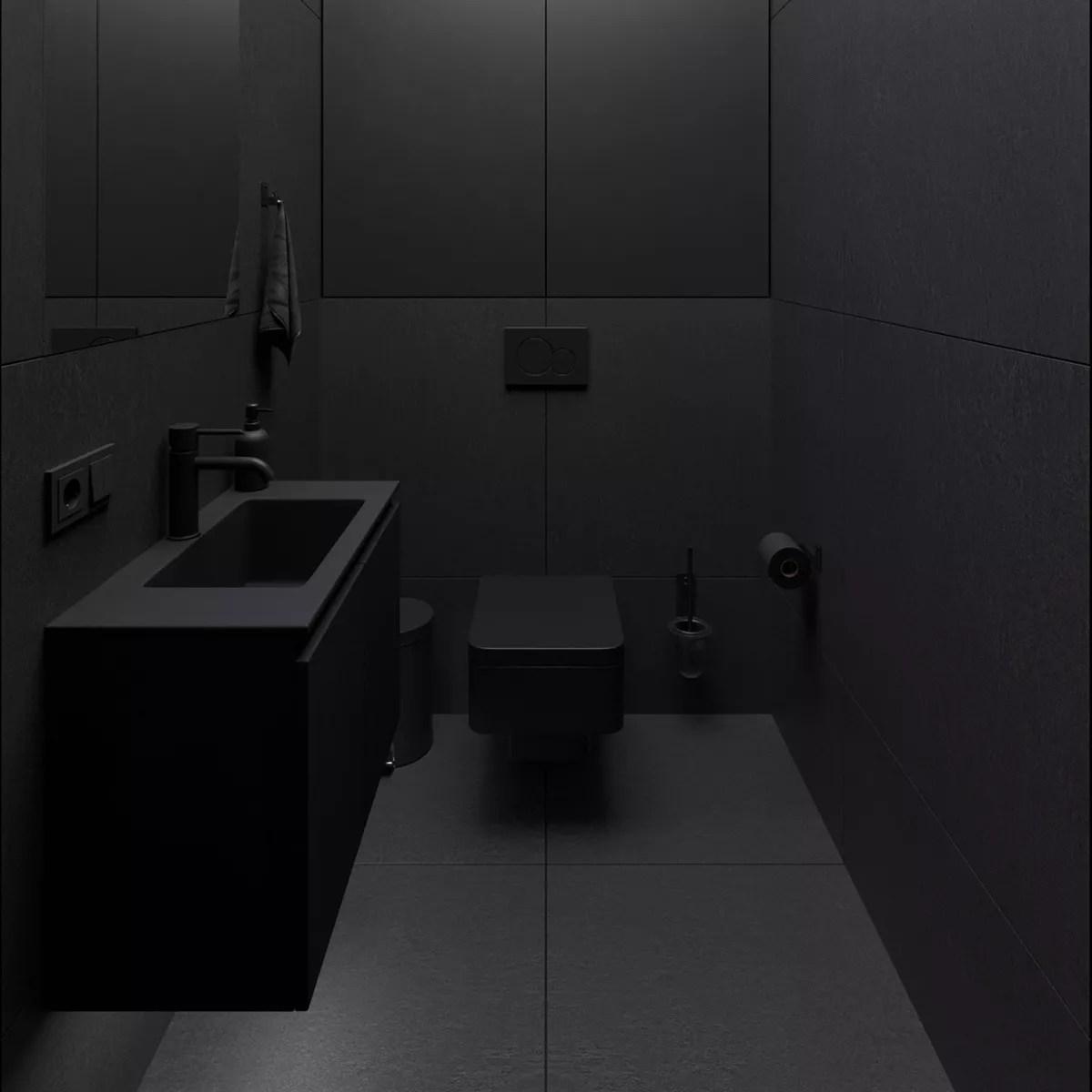 black in bathroom design trends 2020