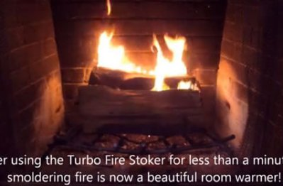 Turbo Fire Stoker helps build a fire faster