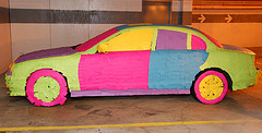 Scott Ableman's Post-It Note Covered Jaguar Image that was used without permission by 3M Post-It