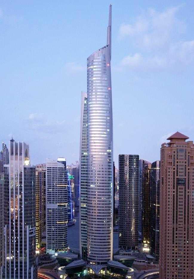 Almas Tower Or Diamond Tower At JLT Area Dubai Jumeirah