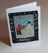 "Falling Snow blank greeting card - 4 x 6"" - $5 CAD"