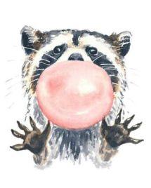 Racoon Art - Bubble Gum