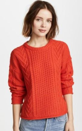 Madewell Poppy Cable Knit pullover sweater