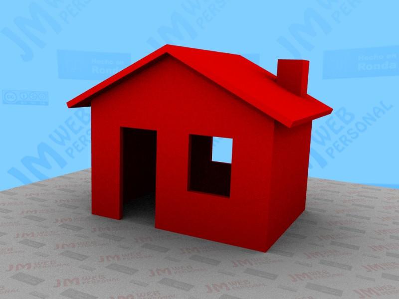 Descarga de modelos Blender 3D  Casa roja