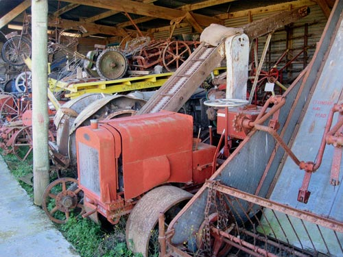 Just some of the larger farm machinery at the museum.