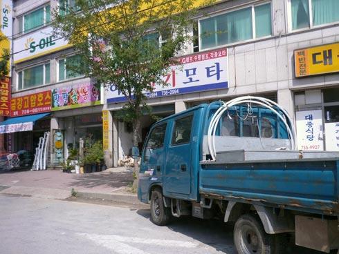 Main street shops in Nonsan.