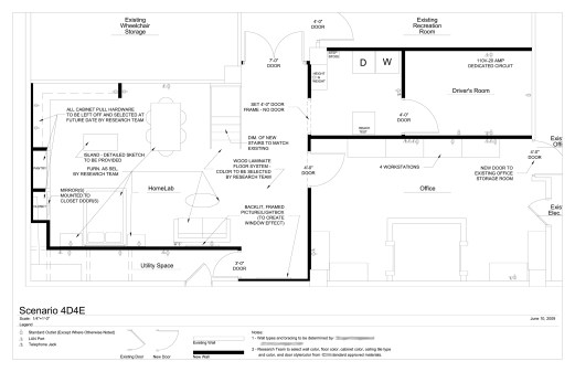 The final design addressed all program requirements, was a much more efficient use of space, and created opportunities for additional work and storage areas. (FFE, Construction Documents, & Construction Administration by Design Strategies, LLC)