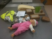 the props used. during these contextual inquiries, the investigator recorded notes on time, body position, and anything the participants said while thinking aloud as they performed the tasks