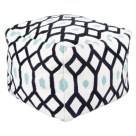 Target- Threshold™ Kilim Square Pouf in Navy/Ivory/Light Blue
