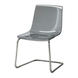 IKEA- TOBIAS Chair, gray, chrome plated