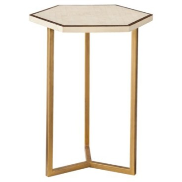 Target- Threshold™ Faux Shell Inlay Hexagonal Accent Table - Cream/ Gold