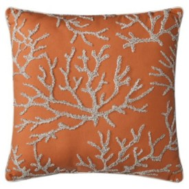 "Target- Threshold™ Embroidered Coral Toss Pillow (18x18"")"