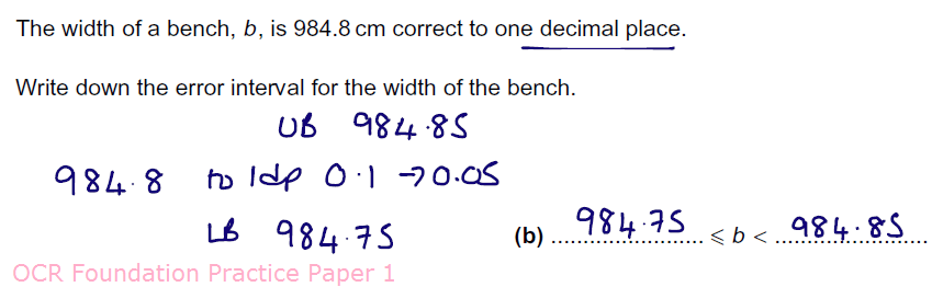 GCSE 9-1 New content – Error Intervals | - JustMaths