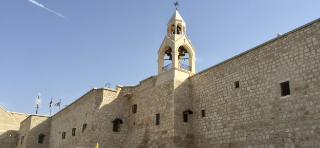 Outside walls of the Church of the Nativity