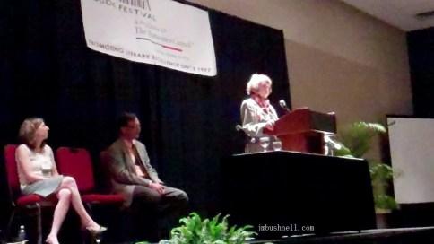 Rob Neufeld and Gail Godwin at the South Carolina Book Festival