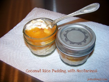 Coconut Rice Pudding made by Jeannie M. Bushnell