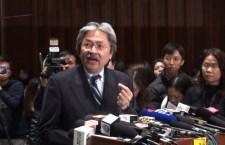 財政司司長曾俊華回應新一份施政報告時表示,報告已回應社會訴求,例如預留500億作退休保障,顯示政府有承擔。 (影片截圖)