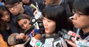 民陣召集人陳倩瑩表示,今次「民陣二一遊行」人數比預期少,但可接受。(影片截圖)