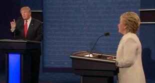 美國總統大選最後一場電視辯論,希拉里與特朗普繼續就各項政策辯論。(資料圖片)