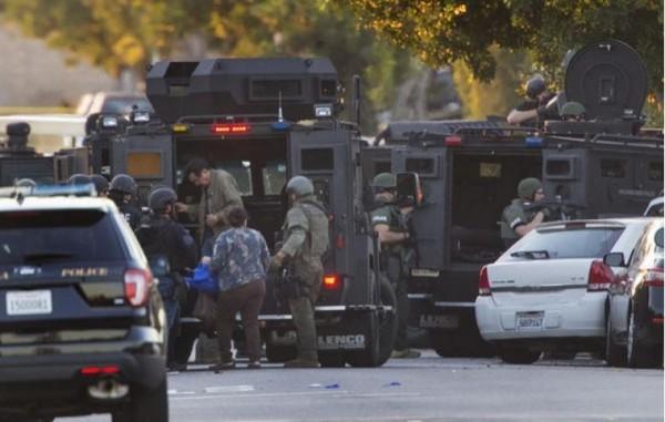 加州阿祖薩市票站附近發生槍擊案,至少造成1死3傷。(資料圖片)