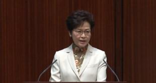 行政長官林鄭月娥昨日發表任內首份《施政報告》,一共有251項新措施,聚焦在房屋、稅務改革和安老扶貧等方面。(影片截圖)