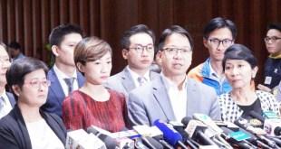民主派議員予以強烈譴責,陳淑莊更稱林鄭月娥以此作為上任後首個「政治任務」。(盧巧霖攝)